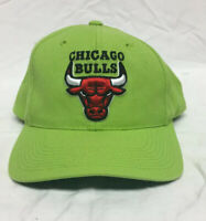 Vintage 90s Chicago Bulls NBA Basketball Like Green Snapback Hat
