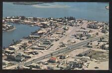 POSTCARD MADEIRA BEACH FL/FLORIDA JOHNS PASS VILLAGE BIRDs EYE AERIAL VIEW 1950s