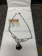 CAROLYN POLLACK 18'' BLK ONYX AND STERLING NECKLESS EXPENSIVE HIGH END