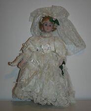 Ladybug porcelain doll RN 64078 OH 12217 ME 2087 Made in China Blonde Blue Eyes