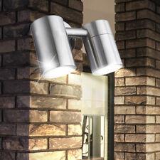 LED Wand Fassaden Leuchte Außen Bereich Edelstahl Garten Balkon Lampe EEK A