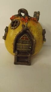 New LED Lighted Resin Pumpkin Gnome House 2348980