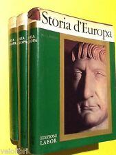 Fisher, H.A.L. - STORIA D'EUROPA. 1961, Edizioni Labor (3 volumi)