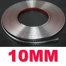 15M Silver 10mm Car Chrome DIY Moulding Trim Strip For Grille Window Door Bumper