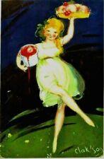 Original vintage poster FRUITS & KOMPOT GIRL SERVING c.1925