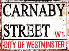 CARNABY ST LONDON STREET SIGN METAL WALL SIGN RETRO  STYLE12x16in 30x40cm shed