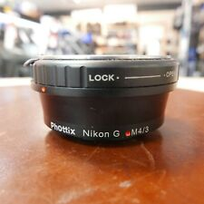 Used Phottix Branded Mount Adaptor Nikon G to Micro Four Thirds