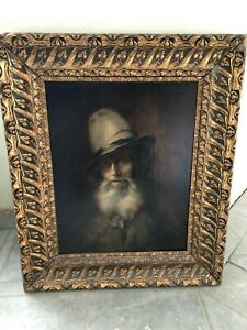 18th century Original Antique oil-canvas portrait