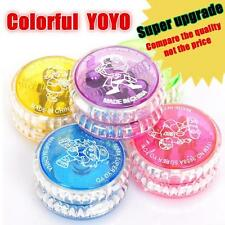 1x Light Up YoYo Flashing LED Glow Colorful Yo-Yo Spinner Top Kids Party Toy IJI