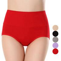 Women Panties Skin-friendly Briefs Cotton Knickers Underpants Solid Underwear