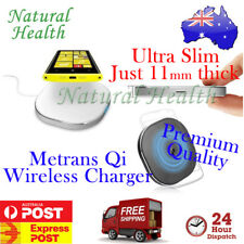 Metrans MWT02 Qi Wireless Charger Charging Pad Slim Mini 4 iPhone Samsung White