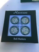Masters (4) Pack GOLF BALL MARK Marker White Dogwood AUGUSTA NATIONAL