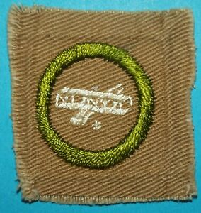 AVIATION TYPE A  SQUARE  MERIT BADGE -- BOY SCOUTS - H664