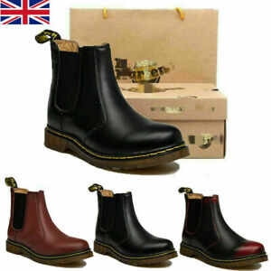 Mens Womens Dr. Martens Classic 2976 Chelsea Boots Genuine Leather Ankle Boots