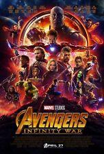 Poster A3 Vengadores Avengers Infinity War Hulk Iron Man Thor Strange Thanos 16