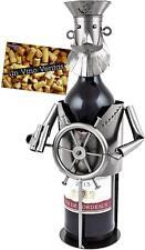 BRUBAKER Wine Bottle Holder 'Captain' - Metal Sculpture - Wine Decor