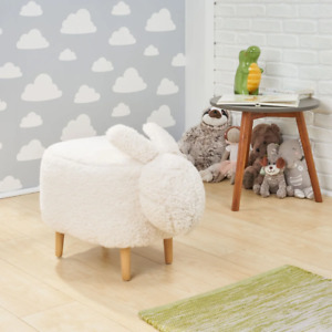 Bajada Fabric Kids' Bunny Ottoman Stool by Christopher Knight Home - N/A