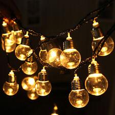 20 LED String Lights Ball Fairy Bulb Lamp For Bedroom Xmas Wedding Party 110V