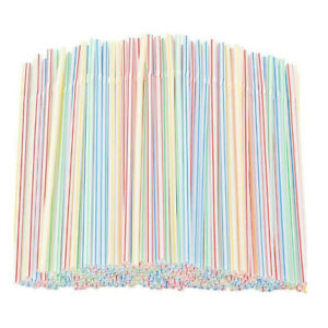 100/300 Plastic Bendy Straws Birthday Wedding Summer Party Cocktail Drink Straws
