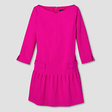 Women's Fuchsia Jacquard Drop Waist Dress - Victoria Beckham for Target NWT
