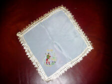 Ladies Vintage Wwii Handkerchief To My Dear Sister w Celtic Figure w Bagpipes