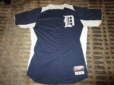 2649efb3b Detroit Tigers #56 MLB Game Used Worn Majestic Jersey 46