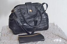 Handbag and its pouch black systyle ref 111600