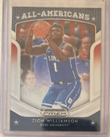 Zion Williamson 2019-20 HOT ROOKIE PANINI PRIZM ALL AMERICANS DRAFT PICKS RC