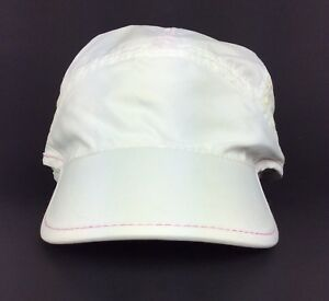 Nike + Plus The Human Race Runners Baseball Hat Cap Womens Size Poly White