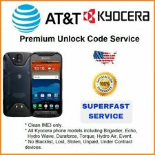 FACTORY UNLOCK SERVICE AT&T CODE KYOCERA FOR DURAFORCE E6560 HYDRO AIR C6745