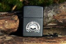 Zippo Lighter - Harley Davidson - Harley Skull Emblem - Willie G - Model # 20582