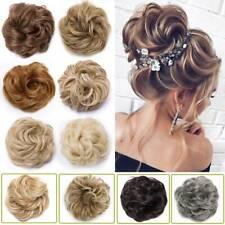 100% REAL Messy Bun Scrunchie Hair Extension Ponytail As Human Hair Piece USPS