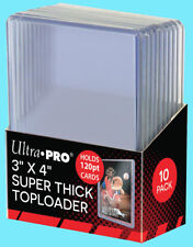 10 Ultra Pro 3x4 120PT SUPER THICK TOPLOADERS Standard Size Trading Card Rigid