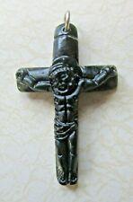 Jade Jesus Crucifix-Jadeite/Christian/Green/Religion/Hand-Carved/Pendant/Jewelry