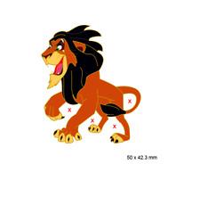 PIN ´S DISNEY FANTASY - SCAR FROM LION KING ROI LION - 5 CM - LE35