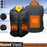 USB Infrared Waterproof Heating Vest Flexible Electric Thermal Winter Jacker