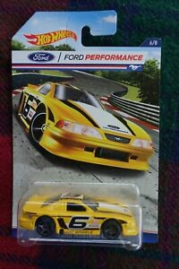 """2016 HOT WHEELS """"Ford Performance"""" 1998 Ford Mustang """"Cobra"""" #6 yellow"""