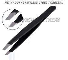 Barber salon eyebrow Plucking slanted tip stainless steel tweezers eye brow