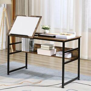 Adjustable Drawing Desk Tiltable Top Workstation Drafting Table Home Office