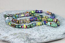 37 uncommon Venetian millefiori trade beads