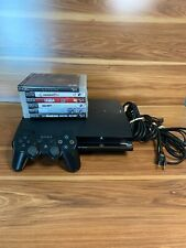 Sony Playstation 3 PS3 CECH-2001A Slim Console Bundle 120GB, 6 Games, Controller