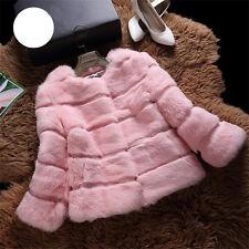 100% Lady Real Rabbit Fur Coat Women Short Jackets 8 Colors