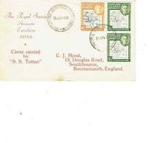 Falkland Islands stamps on Antarctic expedition cover 1956 - SOUTH POKE flaw on