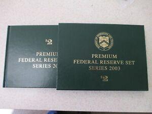 $2 Star BEP Premium Twelve Federal Reserve Set 2003  low Serial number A-L 622