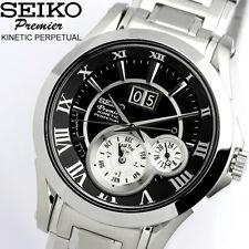 NEW Seiko Premier Kinetic Perpetual Calendar SNP021P1 Leap year Power Save
