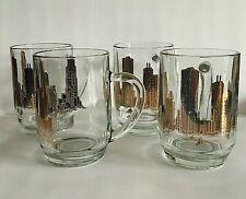 Vintage Chicago Skyline 16 oz. Beer Mugs Set of 4