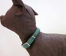 Multi Color Woven Nylon Collar for Small Dogs Make your Own Hole Lightweight