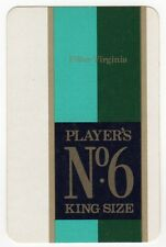 Playing Cards 1 Single Swap Card - Old PLAYERS No.6 Cigarettes SMOKING Tobacco 3