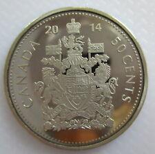 CANADA 2014 50 CENTS PROOF HALF-DOLLAR HEAVY CAMEO COIN