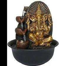 Indoor Water Feature Golden Ganesha Elephant